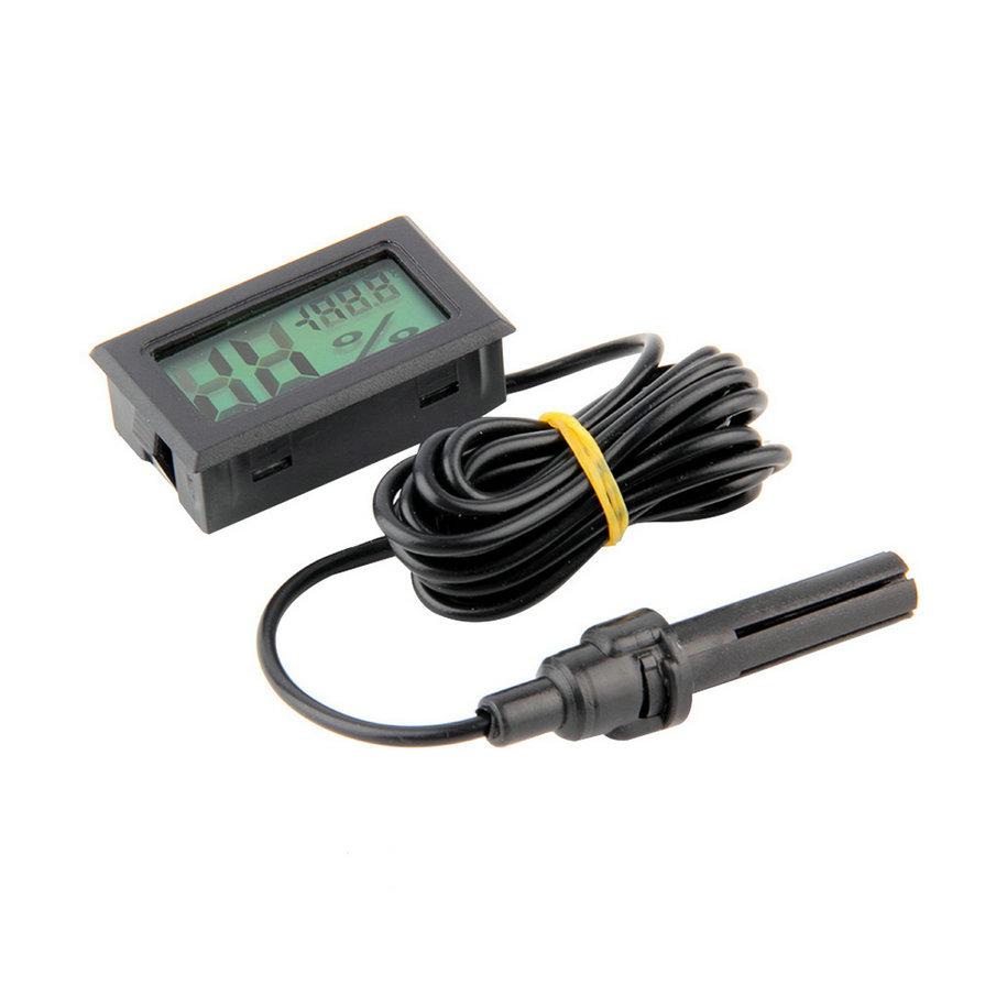 Heißer Verkauf Professionelle Mini Sonde LCD Digital Thermometer Hygrometer Temperatur Luftfeuchtigkeit Meter...
