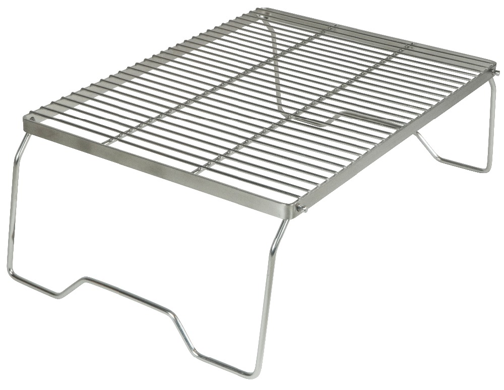 AceCamp Stainless Steel BBQ Grill Stand Outdoors Camping Picnic Folding Premium Portable Tableware Free Shipping