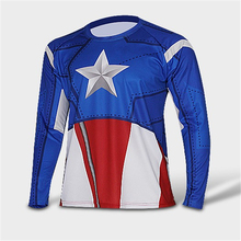 2016 t-shirt captain America /Hulk/Iron Man / t shirt men fitness shirts men t shirts quick dry fitness clothing+Free shipping