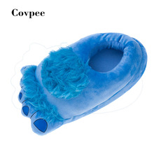 2016 New Warm Soft Sole Women Indoor Floor Slippers/Shoes Animal Shape Pink blue beige Flannel Home Slippers 5 Color
