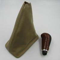 for BYD F3 F3R shift lever dust cover Cowhide gear base thickened dermis peach Boot handball