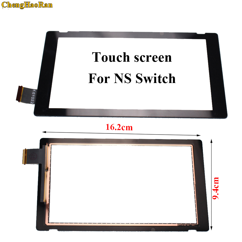 ChengHaoRan 10pcs Front Outer Lens LCD for Touch Screen Digitizer Replacement Part For Switch NS LCD