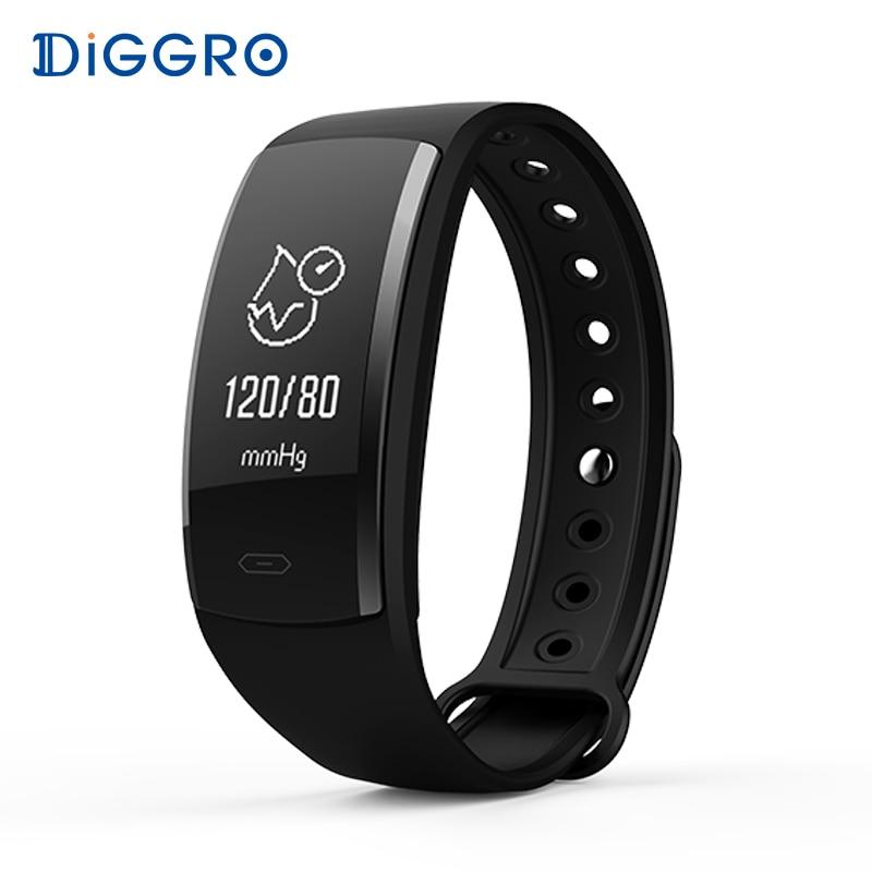 Diggro QS90 Smartband étanche Sang Pression Smart bracelet Moniteur de Fréquence Cardiaque Smartband en oxygène du sang tracker Fitness bracele