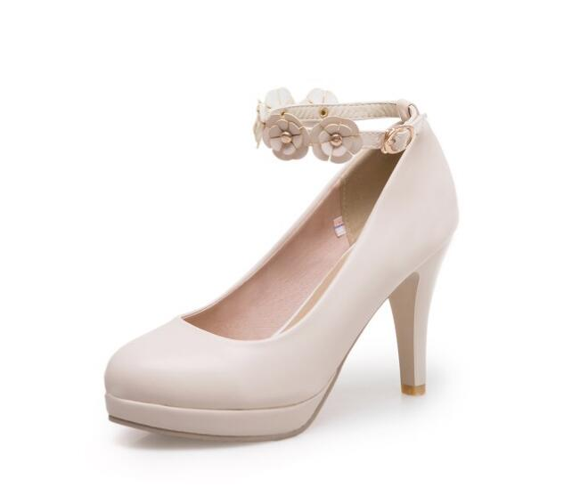Nozze white Femme Alti Scarpe Dolce Platform G61561 Beige Caviglia Nizza Zapatos Cinghia pink Donna Delle Primavera Donne Chaussure Pompe Di black Della Signore Tacchi Mujer SAwtxqSXnd
