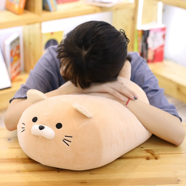 40/50cm Super Soft Down Cotton Fat Cat Pillow Animal Stuffed Cushion Sofa  Office Decor