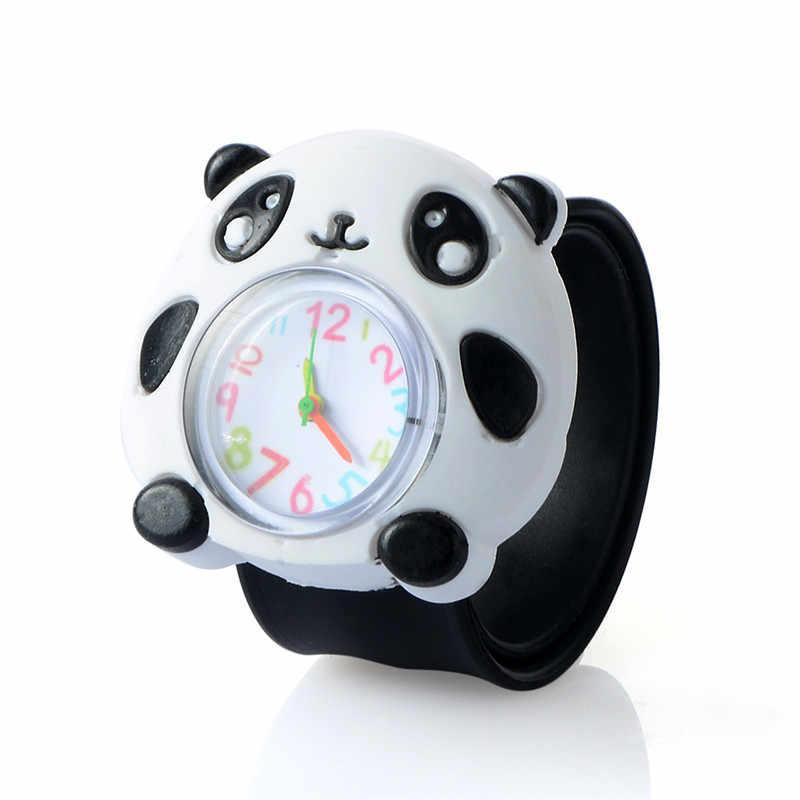3d relógio dos desenhos animados animal leite pai bonito crianças relógio do bebê miúdo quartzo à prova dwaterproof água estudante relógios de pulso para meninas meninos presentes