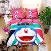 3 4Pcs 3D Cartoon Doraemon Bedding Set For Kids Boys Girls Duvet Cover Bed Sheet Pillowcase