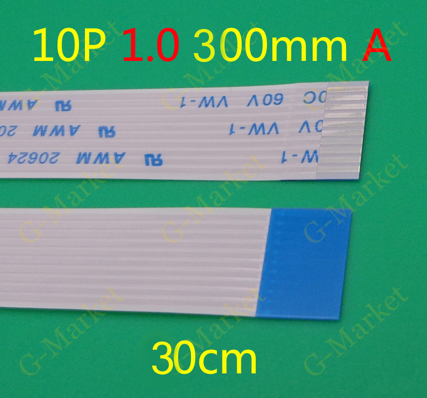 300X Free Shipping NEW FFC FPC Flexible Flat Cable Forward 10 pin 10PIN Length 300mm 1mm