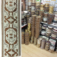 Coffee Grey Embroidery Tape For Bed Cover Rim Pillow Rim Quilt For Cover Edge For Curtain