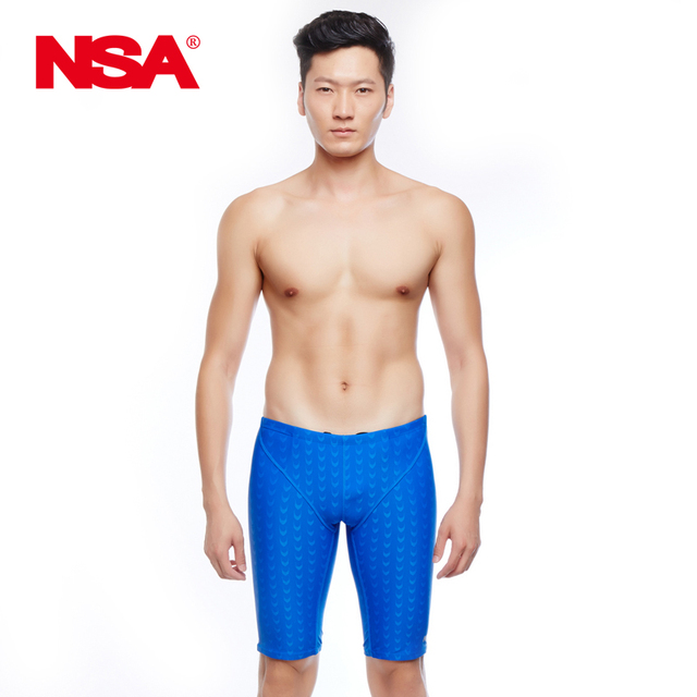 db62de281e NSA black sharkskin swimming swim jammer,water repellent swimming trunks  for men Sport shorts men swimwear