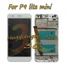 Продажа Новый 5,0 »для huawei P9 Lite мини Полный ЖК-дисплей дисплей + Сенсорный экран планшета сборки + рамка Обложка черный/белый цвет/ золота отслеживания