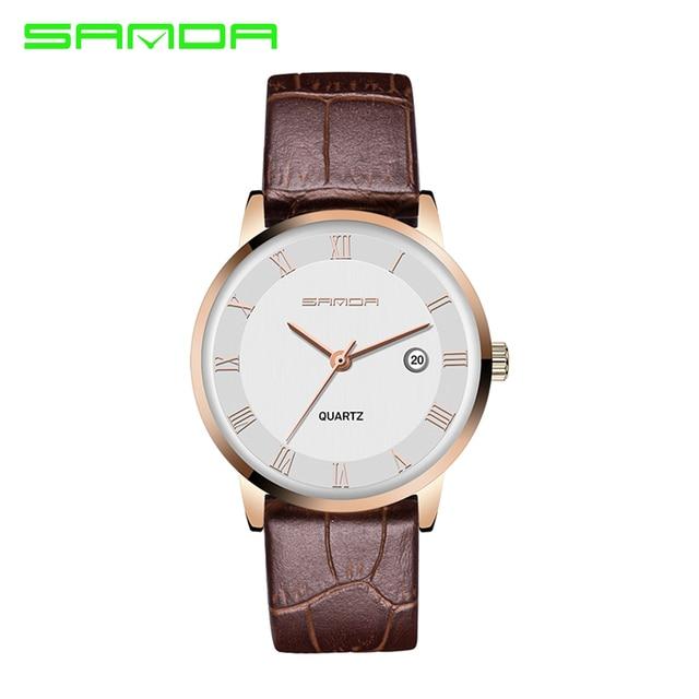 SANDA Lovers' Watch Men Women Fashion Casual Watches Lover's Quartz Watch Reloj Hombre Relogio Montre Orologio Uomo