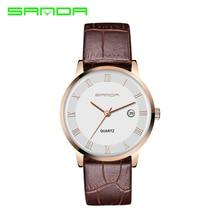 SANDA Reloj de Los Amantes Mujeres de Los Hombres de Moda Casual Relojes Reloj de Cuarzo Reloj del Amante Hombre Relogio Montre Orologio Uomo