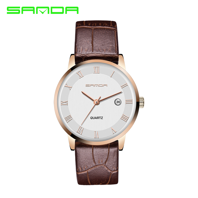 SANDA Relógio Dos Amantes Das Mulheres Dos Homens de Moda Casual Relógios do Amante Relógio de Quartzo Relogio Montre Reloj Hombre Orologio Uomo