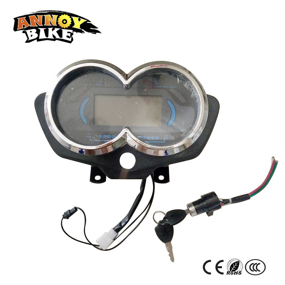 Electric Tricycle Screen Speedometer Dashboard LCD Display 48V60V72V80V96V Motorcycle Tricycle Speedview 90*40 Blue Screen