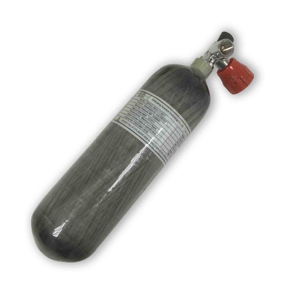 AC121711 2.17L Paintball équipement Hpa réservoir en Fiber de carbone cylindre Pcp réservoir d'air 300Bar avec Valve de Gague pour Air Softgun Acecare