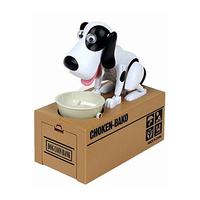 1 X Robotic Dog Doggy Design Coin Bank Money Box Saving Bank Lover Gift Electronic Plastic