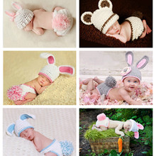 Creative newborn photography clothing boys and girls, cute little rabbit model clothing and hand-woven radish infant children's