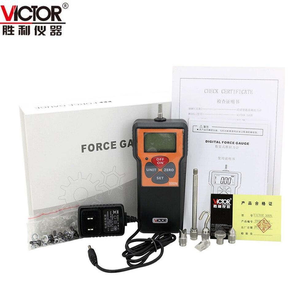 VICTOR VC10N-VC500N Newton/Kg/Pound Digital Push/Pull Meter victor 6056d digital clamp meter