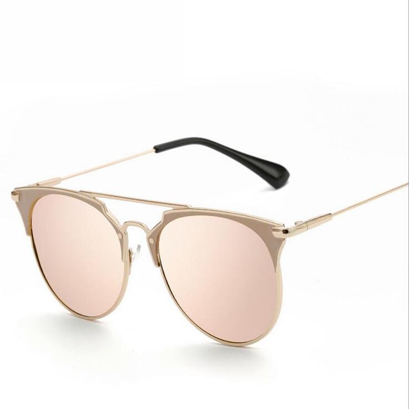 5f6bc5f05a2356 New Marque Designer Rétro Vintage lunettes de Soleil Femmes Double Faisceau  Classique Femme Rétro Top Qualité Lunettes de Soleil Des Femmes UV400