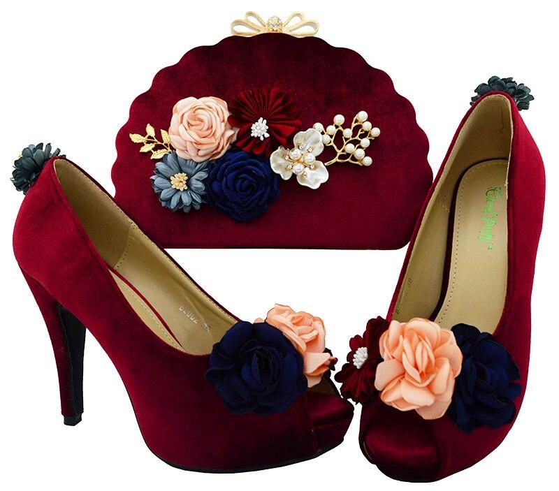 Ayakk.'ten Kadın Pompaları'de Kadın Teal Afrika İtalyan Pompaları parti ayakkabıları ve Satış Çanta kadın Ayakkabı Ve Çanta Birleştirme Bayanlar Süper yüksek topuk BL002'da  Grup 2