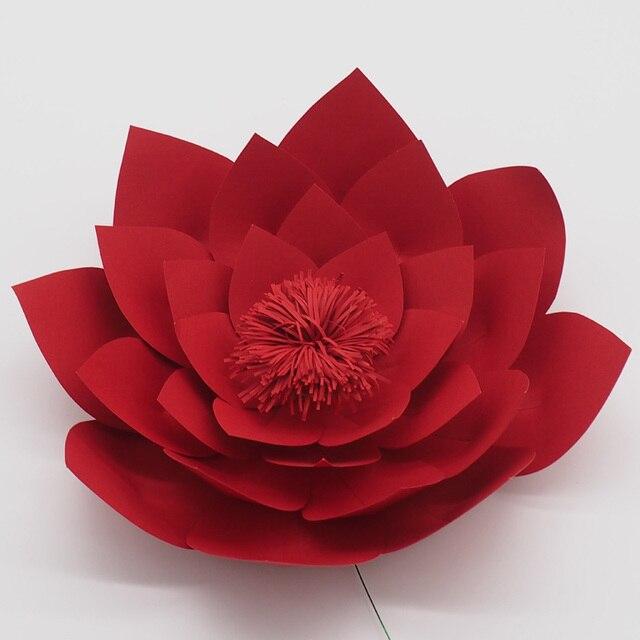 1 Piece 30cm Cardstock Giant Paper Flower For Wedding Backdrops