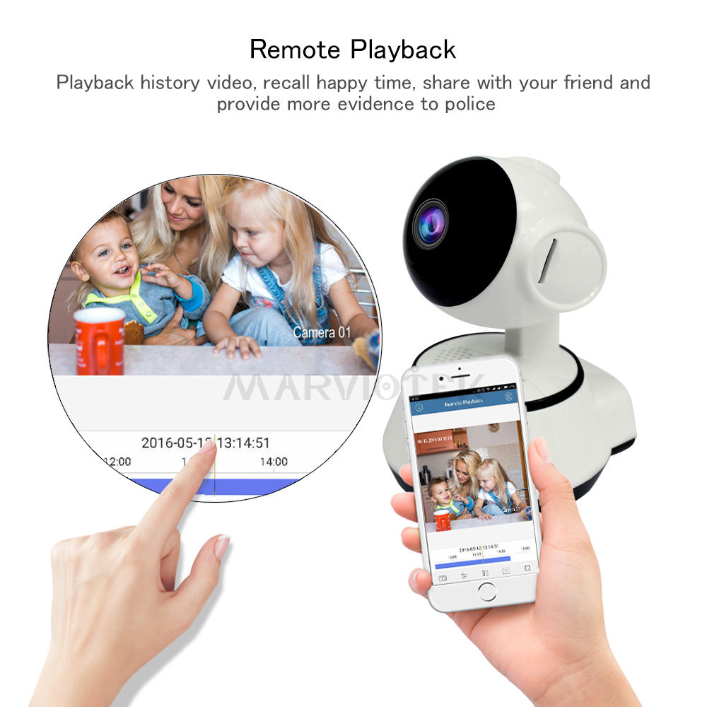 Image 2 - Home Security Baby Monitor WiFi IP Camera Wireless Baby Camera Audio Record Video Surveillance Camera 720P HD Night vision P2P-in Baby Monitors from Security & Protection