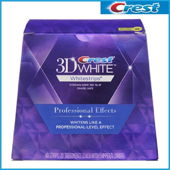 Crest 3d white teeth Whitestrips Professional effect 1 box 20 Pouches Original Oral Hygiene Teeth Whitening strips