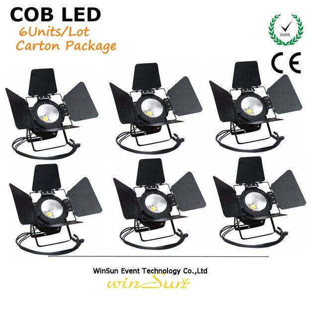 Litewinsune 6 stks Barndoor COB LED 100 W CW/WW Podiumverlichting ...
