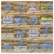 Balloon Flower Tree Words Metal Cutting Dies For DIY Scrapbooking Album Decorative Embossing Die Cut Paper Cards Craft