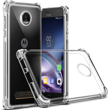 For Motorola Moto One Power G7 G6 G5 G5s G4 E4 E5 C Z Z2 X4 Play Plus Air Cushion Shockproof Case Clear Crystal Soft Gel Cover