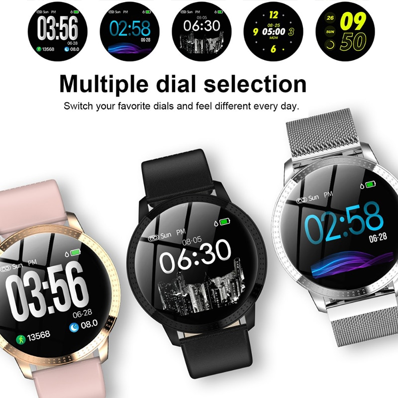 PARAXEN Men Women Fashion Smart Watch With Blood Pressure Heart Rate Monitor IP67 Waterproof IOS&Android Fitness Tracker