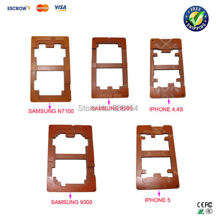 цена на 5pcs/lot Mobile Mould Molds for LCD Separator for iPhone 5/4s/4 Samsung Galaxy S4 i9500,Note2 N7100,S3 i9300