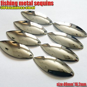 fishing metal sequins willow leaf spoon lures length 49mm*width18.2mmquantily100pcs/lot the temptation to strengthen to che fish