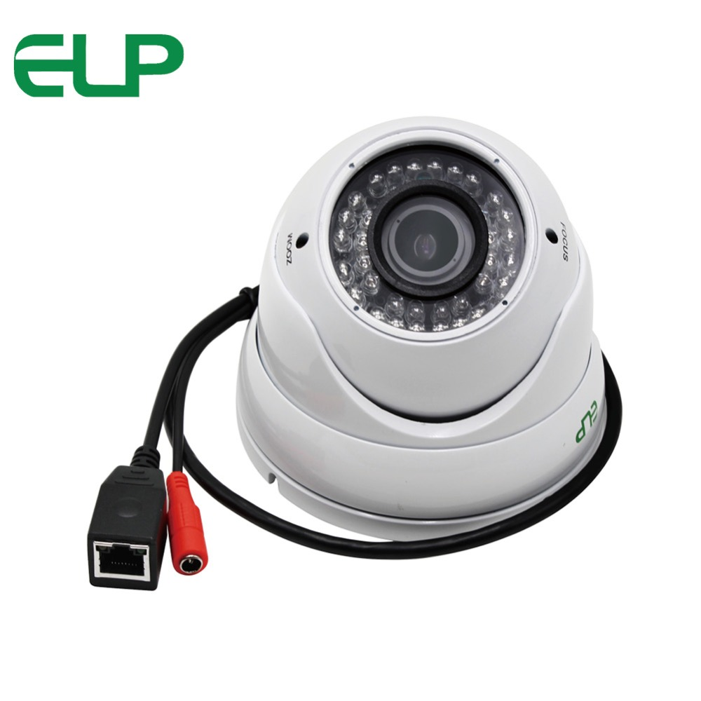 Outdoor Dome IP Camera waterproof CCTV Security 1.0 Megapixel Onvif ir 35m night vision 2.8-12mm varifocal lens dome IP Camera cctv security 2 8 12mm lens 5 0 megapixel ip ir dome camera poe