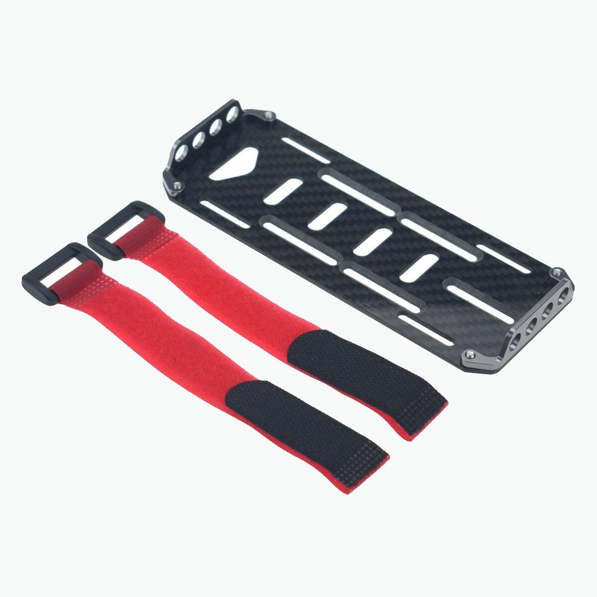 Alta calidad 1/10 RC coche negro de fibra de carbono de la batería placa de montaje scx10 CC01 F350 D90 rc4wd