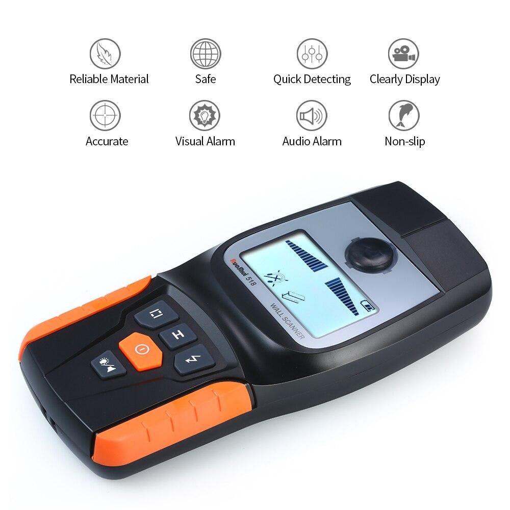 Détecteur de mur industriel multifonction professionnel de poche détecteur de fil de bois de métal détecteur de goujon LED bip GR