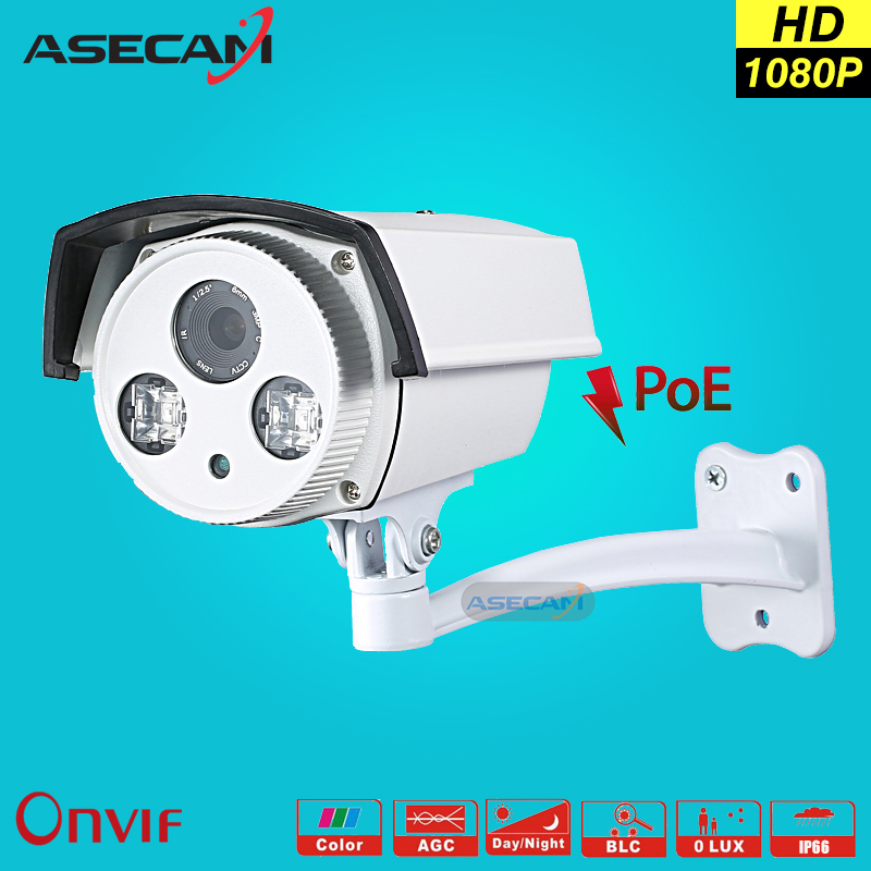 New 1080P IP Camera Epistar Array Infrared Night POE Bullet Waterproof WebCam Security Network Onvif Video Surveillance P2P new model tr ip40ar731l poe 4pc 4mp array 30m ir network bullet security ip camera h264