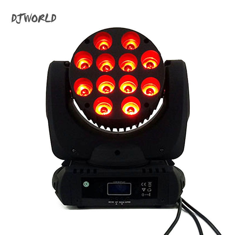 4pcs/lot LED Beam moving Head Light 12x12w rgbw 4in1 Quad dmx 512 stage light for clubs DJ theaters churches concert productions 6pcs lot dj lights cree 9pcs 15w sharpy beam light 4in1 rgbw moving head beam led light extend robot rotating dmx stage light