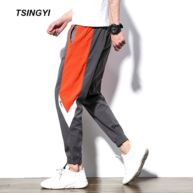 Tsingyi 2018 Autumn Colors Splicing Mens Sweatpants joggers Casual Pants Men Legging Masculina Drawstring Trousers