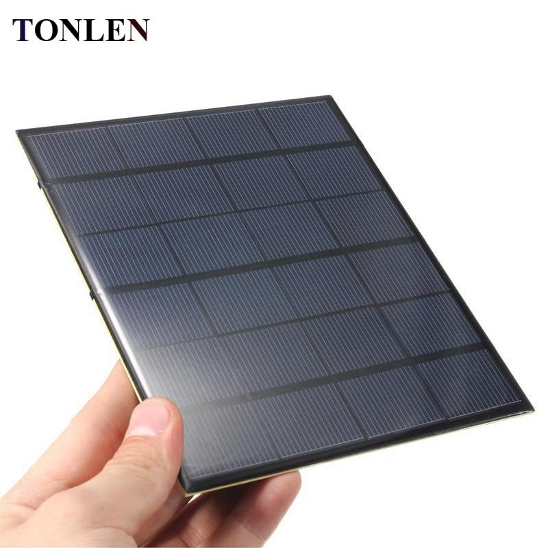 TONLEN 6V Solar Panel 3.5W Polysilicon Epoxy Solar Cell DIY Solars Battery Charger Sunpower Photovoltaic Panel Solar Power Bank