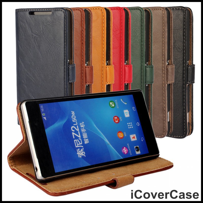 For Sony Xperia Z2 Phone Case Smartphone Wallet Cover Leather Bag For Sony Z2 D6503 D6502 L50W Cases Mobile Accessori Etui Coque