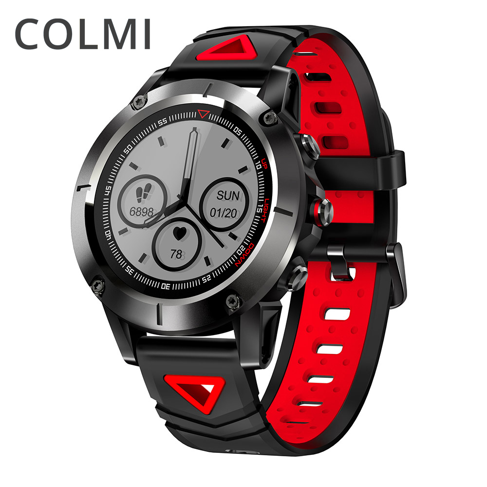 COLMI GPS Smart Watch IP68 Waterproof Heart Rate Monitor Altimeter Barometer Thermometer Compass Swimming Sports Smartwatch volemer gps smart watch ip68 waterproof sports heart rate monitor bluetooth wristband oxygen compass smartwatch for android ios