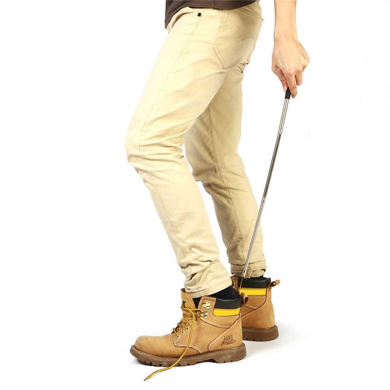 BSAID 伸縮性 3 種類の長さ靴ホーンソフトシリコーンハンドルスティックステンレス鋼靴ホーン最長 64 センチメートル靴べら新しい