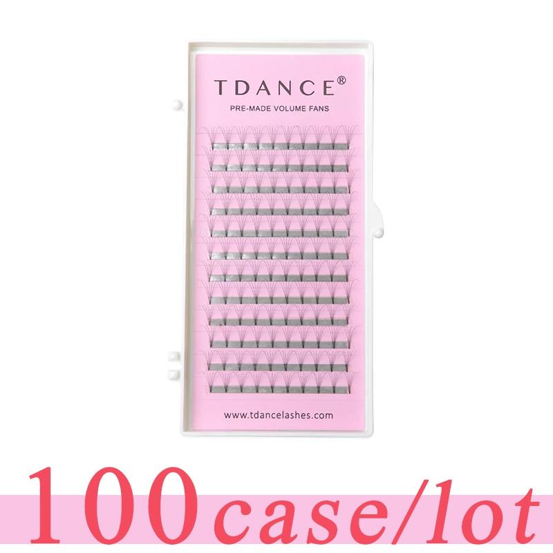TDANCE 100 pcs lot Eyelash Extension short stem 0 07 0 10mm thickness High Quality Pre