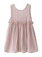 Girls Vest Summer Back Dress Baby Lys Stripe Girl Dress