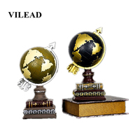 VILEAD 30.7cm Resin Earth Piggy Bank Figurines Nordic Retro Crafts Desktop Furnishings Living Room Office Soft Decoracion Hogar