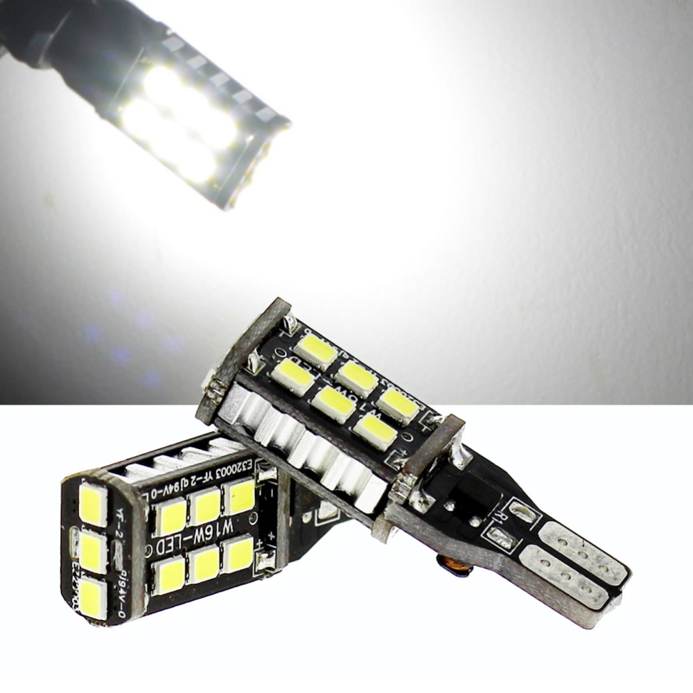 2PCS New Canbus 7.5w T15 LED Reverse Light W16W 15SMD Car LED NO ERROR Back UP light rear Lamp white Car styling 2pcs 12v 31mm 36mm 39mm 41mm canbus led auto festoon light error free interior doom lamp car styling for volvo bmw audi benz