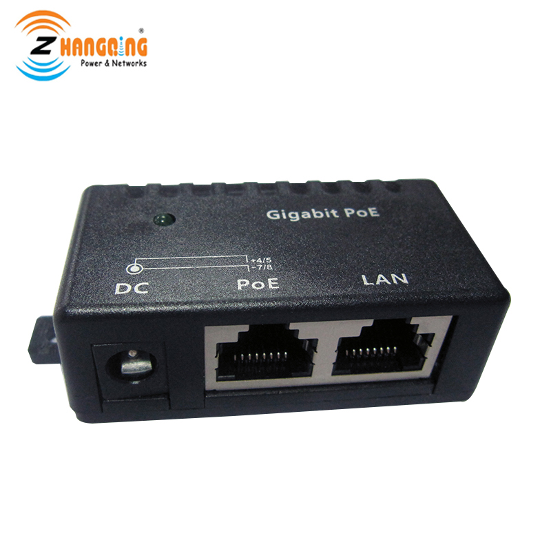 POE Injector Gigabit 48V 24V 12V 56V 100/1000Mbps Single Port Gigabit POE Cube