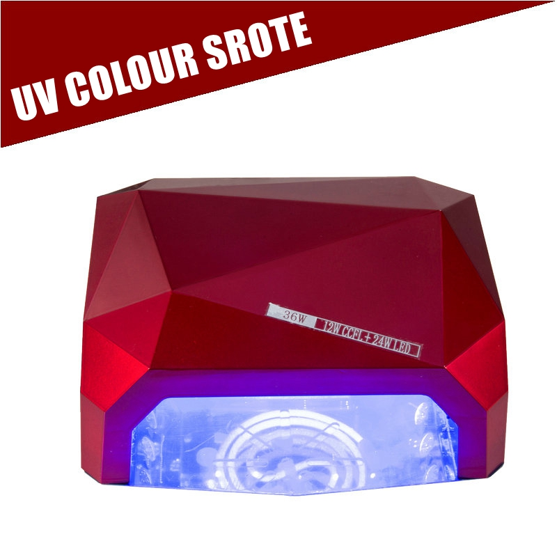 Nail Dryer&FREE SHIPPING Sensor 36W 100-240V Diamond Auto-induction Nail Art LED/UV Lamp UV Gel Dryer For B.B Gel Salon new professional dc 12v 2a 24w uv led nail lamp nail dryer unique design intelligent induction three setting buttons an adapter
